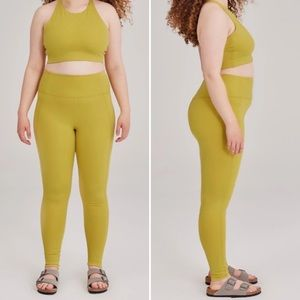 Girlfriend Collective | Pear Leggings and Bra Set